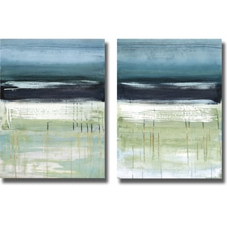 Heather McAlpine 'Sea and Sky I and II' 2-piece Canvas Art Set
