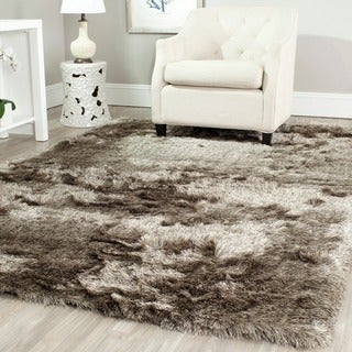 Safavieh Silken Sable Brown Shag Rug (7' Square)