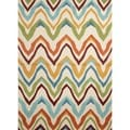 Solid Multi Color Indoor/ Outdoor Polypropylene Rug (2' x 3')