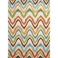 Solid Multi Color Indoor/ Outdoor Rug (5' x 7'6)