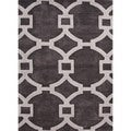 Hand-tufted Modern Geometric Wool/ Silk Rug (3'6 x 5'6)