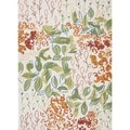 Floral Multi Color Indoor/ Outdoor Rug (7'6 x 9'6)