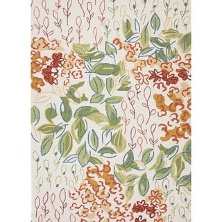 Floral Multicolor Indoor/ Outdoor Rug (5' x 7'6)