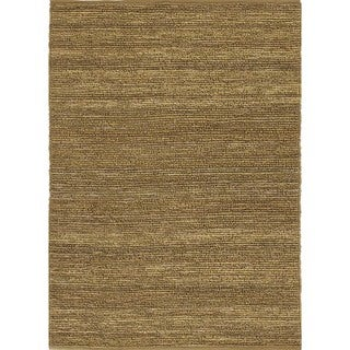 Natural Solid Hemp/ Jute Green Woven Rug (2' x 3')