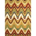 Solid Multi Color Indoor/ Outdoor Rug (2' x 3')