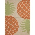 Coastal Red/ Orange Indoor/ Outdoor Rug (3'6 x 5'6)