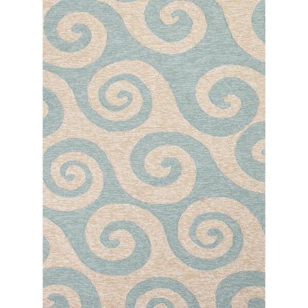 Coastal Blue Indoor/ Outdoor Rug (7'6 x 9'6)