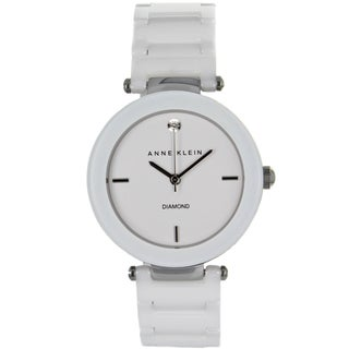 Anne Klein Women's Stainless Steel and Ceramic Watch