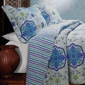 Esprit Blue 3-piece Quilt Set