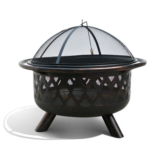 Monterey Bronze Rubbed Steel FP-001 31-inch Outdoor Fire Pit
