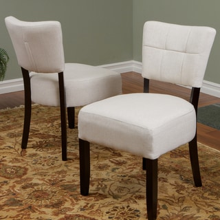 Christopher Knight Home Firenze Beige Fabric Dining Chairs (Set of 2)