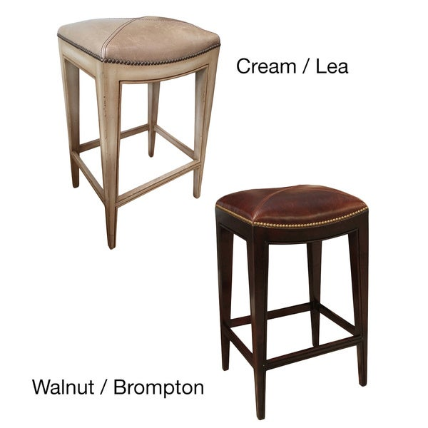 Sonoma Italian Leather and Alder Wood Barstool