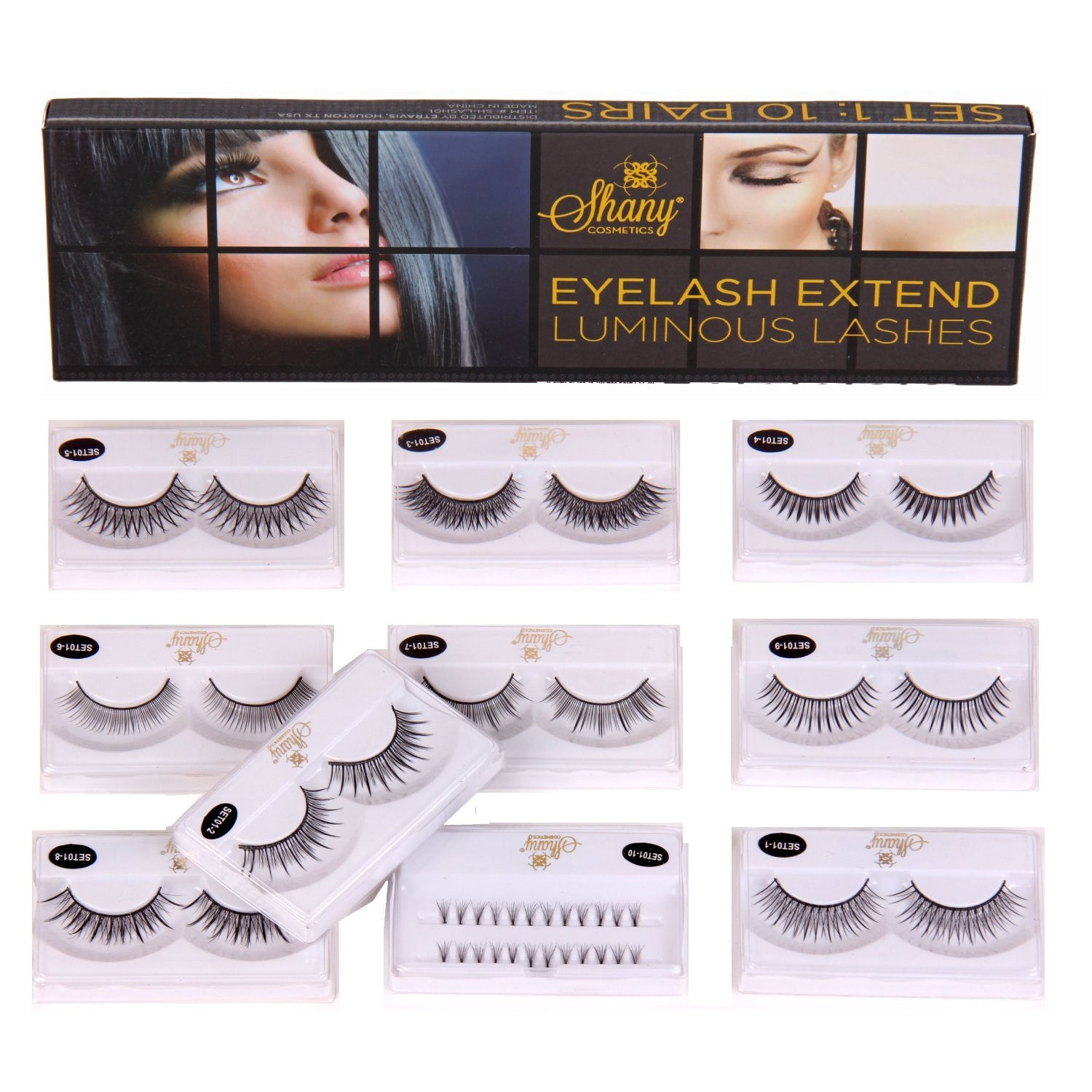 Shany Cosmetics Eyelash Extend Luminous Lashes Assorted Reusable Eyelashes (Thin Collection) at Sears.com