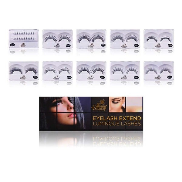 Shany Eyelash Extend - Set of 10 Assorted Reusable Eyelashes - Thin Collection