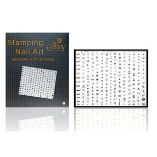 Shany Cosmetics New XXL Image Plate 240 Designs Fun Shapes Set # B
