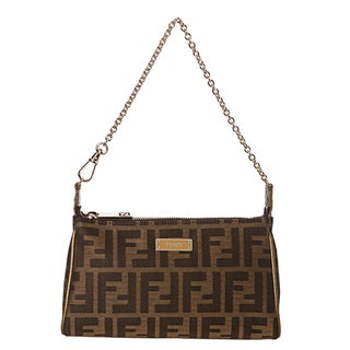 Fendi Tobacco Zucca Mini Shoulder Bag