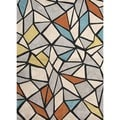 Modern Geometric Tufted Deep-charcoal Rug (5' x 7'6)