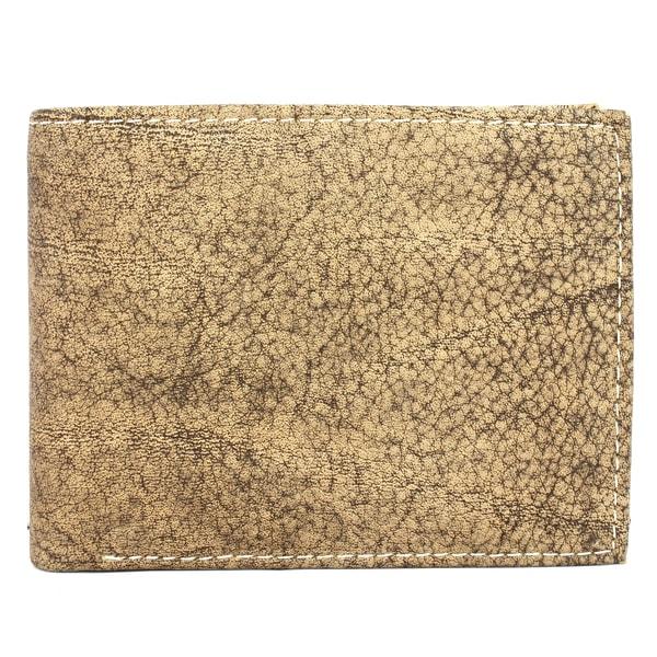 Unico Men's Brown Leather Bi-fold Wallet