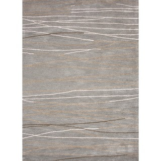 Modern Geometric Wool/ Silk Tufted Rug (9'6 x 13'6)