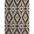 Transitional Tribal Gray/ Black Tufted Rug (5' x 7'6)