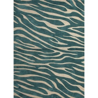 Modern Animal Print Tufted Rug (5' x 7'6)