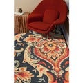Transitional Floral Blue Tufted Rug (5' x 7'6)