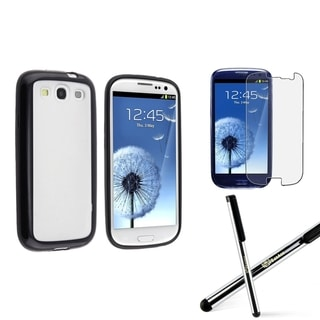 BasAcc TPU Case/ LCD Protector/ Stylus for Samsung Galaxy S3/ S III