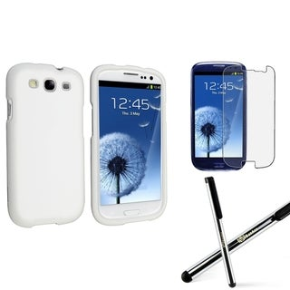 INSTEN Phone Case Cover/ Anti-glare Protector/ Stylus for Samsung Galaxy S3 S III