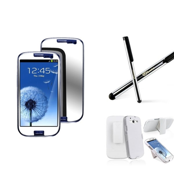 BasAcc Holster/ Stylus/ Screen Protector for Samsung Galaxy S III/ S3