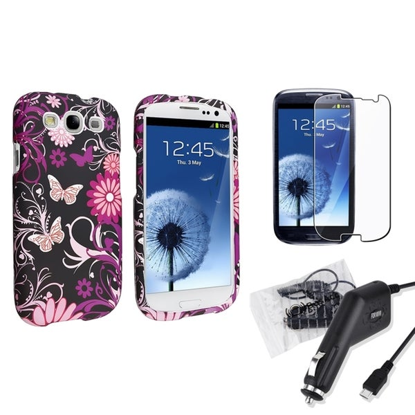 INSTEN Phone Case Cover/ Charger/ Screen Protector for Samsung Galaxy S3 S III