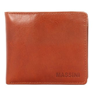 Massini Men's Fashion Leather Bi-fold Wallet