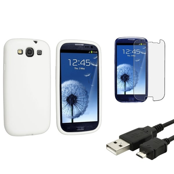 BasAcc Case/ LCD Protector/ USB Cable for Samsung Galaxy S3/ S III