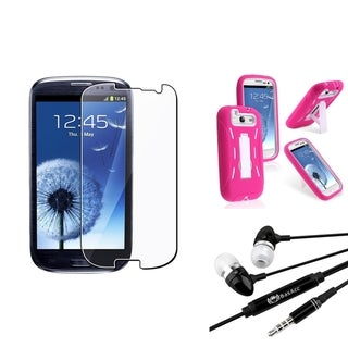 BasAcc Case/ LCD Protector/ Headset for Samsung Galaxy S3/ S III