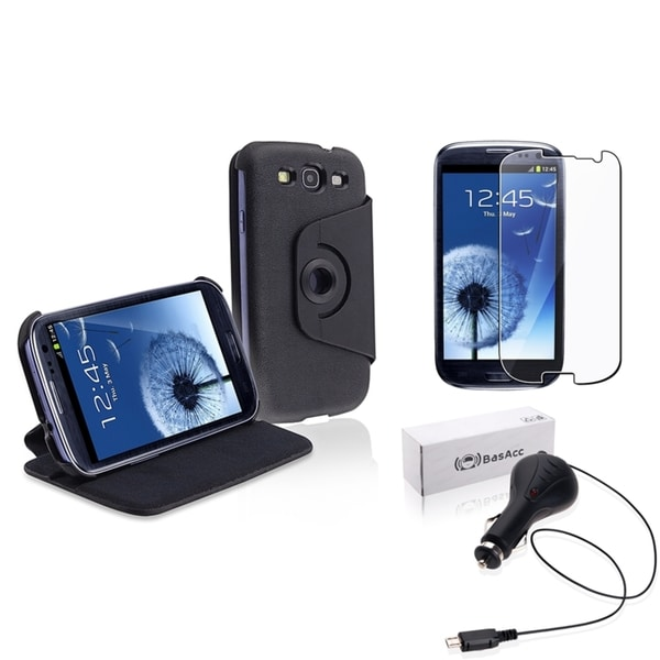 INSTEN Phone Case Cover/ Protector/ Car Charger for Samsung Galaxy S3/ S III