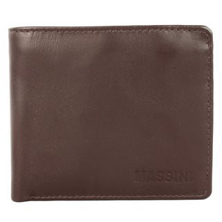 Massini Men's Brown Leather Bi-fold Wallet