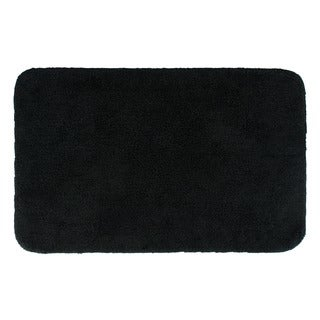 Sherry Kline Solid Black 21 x 34 Bath Rug (Set of 2)