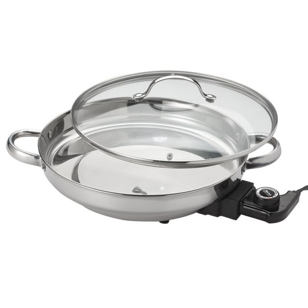 Aroma Stainless Steel Electric Skillet