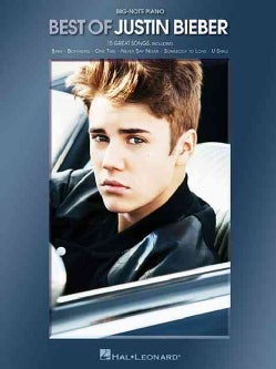 Best of Justin Bieber for Big-Note Piano (Paperback)
