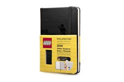 Moleskine 2014 Planner 12 Month Lego Weekly Notebook Pocket Black (Calendar)