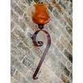 Horizon Scroll Hurricane Chocolate Wall Sconce