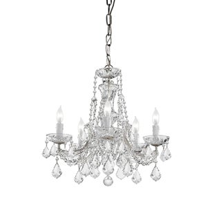 Maria Theresa 5-light Polished Chrome Chandelier