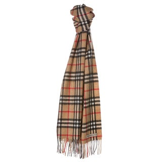 Burberry 'Icon Check' Cashmere Scarf