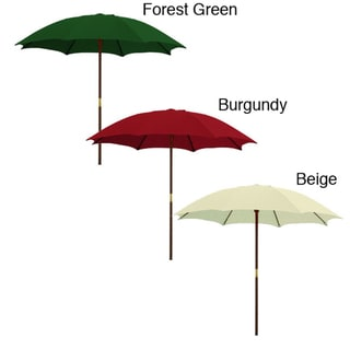 Solid Color Wooden Patio Umbrella