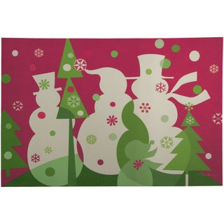 Indoor Candy Snowmen Cushion Mat