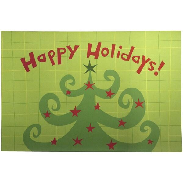 Indoor Christmas Tree Curls Cushion Mat