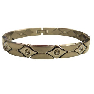 Magnetic Bracelet Diamond CZ Design