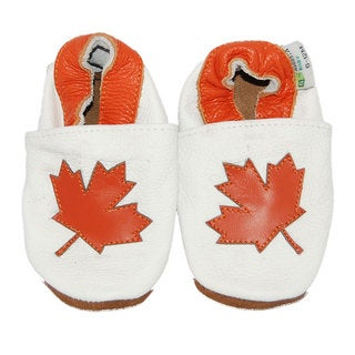 Maple Leaf Soft Sole Leather Baby Shoes