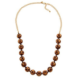 Kenneth Jay Lane Leopard Print Necklace