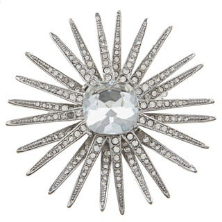 Kenneth Jay Lane CZ Starburst Pin