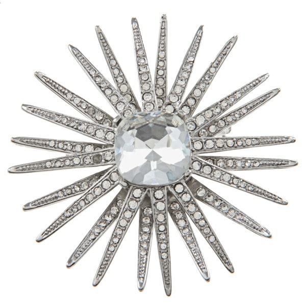 Kenneth Jay Lane CZ Starburst Pin